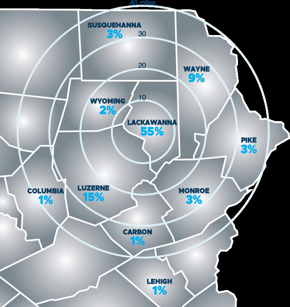 eastern pa map
